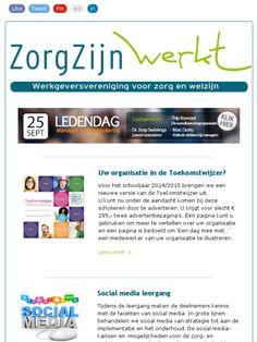 Nieuwsbrief nr 12:  ❶ Toekomstwijzer ❷ Leergang Social Media ❸ Google Analytics  ❹ Kantoorgeheimen