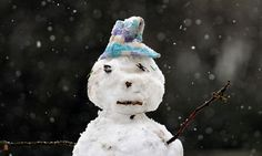This snowman looks very sad. I'm sad when mummy and daddy fight.
