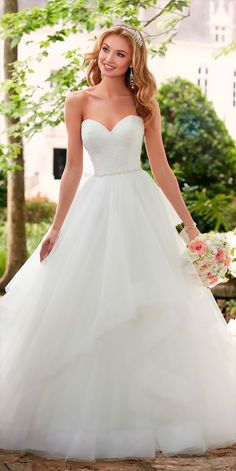 Stella York Spring 2017 Wedding Dresses - World of Bridal - This layered ball gown wedding dress from Stella York is a princess bride's dream come true! Spring 2017 Wedding Dresses, Wedding Dress Trends, Best Wedding Dresses, Bridal Dresses, Wedding Gowns, Trendy Wedding, Wedding Ideas, Lace Wedding, Bridesmaid Dresses