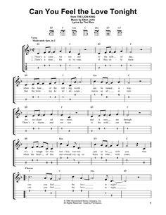 Can You Feel The Love Tonight (from The Lion King) by Elton John - Ukulele - Guitar Instructor Ukulele Songs Disney, Easy Ukelele Songs, Ukulele Tabs Songs, Ukulele Fingerpicking Songs, Ukulele Songs Beginner, Easy Guitar Tabs, Guitar Chords For Songs, Guitar Sheet Music, Uke Tabs