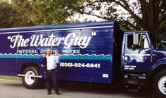In celebration of our 25th anniversary, every Thursday we post a picture for Throw Back Thursday. #tbt Co-owner, Bryan Shinn pictured with two of his three boys in front of an early water truck. #thewaterguy #familyowned #25years