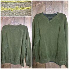 Men's Tommy Bahama Pullover Green Sweater Sweatshirt Long Sleeve  | eBay