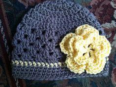 Pretty Posy Shell Stitch Hat by Cadi Schmidt