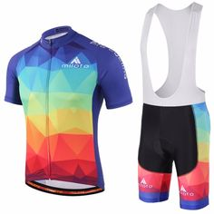 Merida Bike Clothing Set Men/'s Cycling Jersey and Shorts Kit White-Green S-5XL