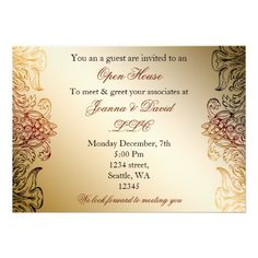 21 best open house invitation wording images on pinterest gold elegant corporate party invitation stopboris Image collections