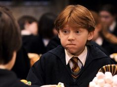 I love this kid's face! Little Ron Weasley was so stinking cute!