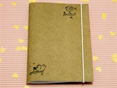 Presentes e Mimos - Caderninho em papel kraft - Passarinhos -  www.tuty.com.br #tuty #craft #moleskine #draw #illustration #caderno