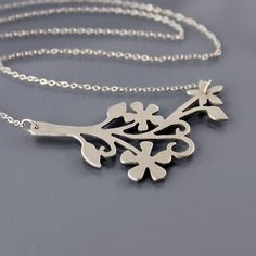 Intricate Floral Branch Necklace - Made to Order. $92.00, via Etsy.