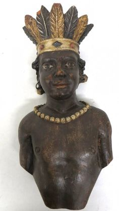 Small cigar store Indian bust - probably from a country store.  Hyde Park Country Auctions