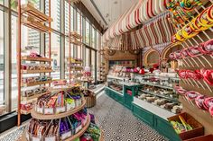 Nerds, Starburst, Swedish Fish, gobstoppers and chocolate gold coins… what are favorite childhood sweets? Fuzziwig's – an old fashioned Chocolate Gold Coins, Chocolate Shop, Candy Store Design, Cake Shop Design, Candy Room, Apple Snacks, Ice Cream Design, Penny Candy, Supermarket Design