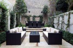 Black Sofa Black Outdoor Dining Table
