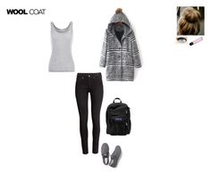 """""""Cold Weather Essentials: Wool Coat"""" by ilovecats-886 ❤ liked on Polyvore featuring Velvet by Graham & Spencer, H&M, Keds, JanSport, Express and woolcoat"""