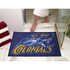 George Washington GW Colonials All-Star Welcome/Bath Mat Rug 34X45