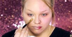 She Applies Makeup To Only Half Of Her Face. When She's Done? My Jaw Dropped!
