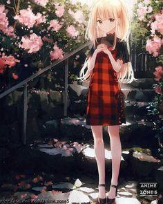 "Fille Manga anime girl, original art by ""gomzi – Fille Blonde Anime, Fille Anime Cool, Cool Anime Girl, Pretty Anime Girl, Beautiful Anime Girl, Anime Art Girl, Anime Girls, Blonde Hair Anime Girl, Anime Girl Dress"