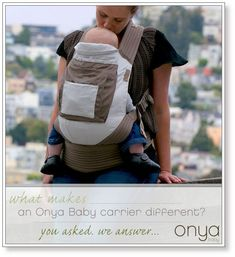 You asked us what makes an Onya Baby carrier different from other baby carriers. We explain it. Happy #babywearing!