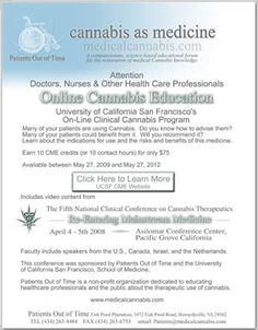 PATIENTS OUT OF TIME - medical/scientific research of cannabis