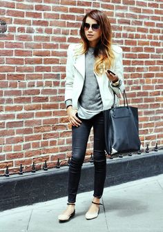 ankle-strap flats.