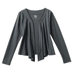 Don't like the long sleeves but like the drapey.  Wear this with a lace T.