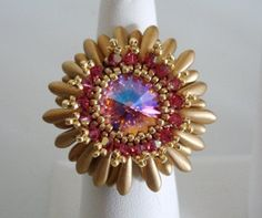 *P Flower Power Crystal Ring Tutorial
