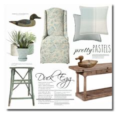 """Duck Egg"" by barngirl ❤ liked on Polyvore featuring interior, interiors, interior design, home, home decor, interior decorating, Laura Ashley, Allstate Floral, Chive and Home Decorators Collection"
