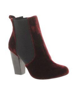 sports shoes 44b9b 3e74a Oxblood Velvet Bootie The Velvet Rope, Black Velvet, Oxblood, Chelsea Boots,  Chunky