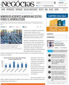 Título: Número de acidentes aumenta nas sextas-feiras 13, aponta estudo  Veículo: Época Negócios  Data: 13- Junho- 2012  Cliente: Allianz