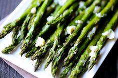 Roasted Asparagus With Feta Cheese #RoastedAsparagus #AsparagusWithCheese