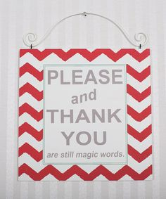 Loving this 'Please and Thank You' Wall Art on #zulily! #zulilyfinds