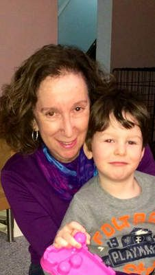 Patient advocate Geri Greenberg with her grandson Derrick Brown. The boy suffers from a rare disease called tuberous sclerosis complex. (March 2014) #RareDisease #TuberousSclerosis