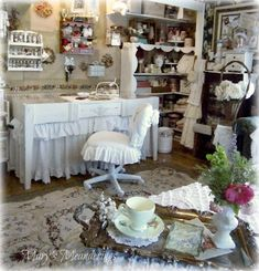 Happy Friday! Today Mary is here to show off her lovely crafting space! Enjoy! -Linda   I cant begin to tell you how excited I am to be posting today for Linda and Craftaholics Anonymous! I have followed Lindas blog for ages and it was women, li