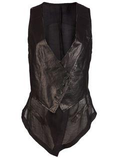 Double Layer Draped Vest