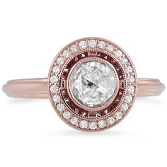 Rose Cut Vintage Halo Diamond Ring from Brilliant Earth