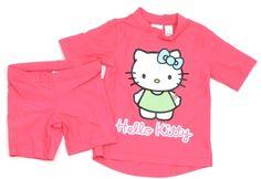 Knall-pinkes #HelloKitty Outfit in Gr. 98 mit UV-Schutz.