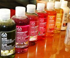 The Body Shop shower gel - fun fruity scents! The Body Shop, Bath And Body Shop, Body Shop At Home, Bath And Body Works, Perfume, Body Mist, Body Spray, Cocoa Butter, Body Butter