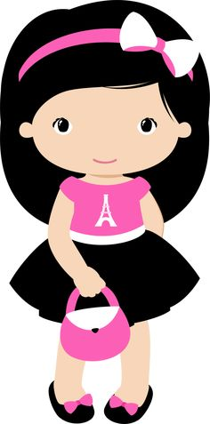 View all images at PNG folder Cute Baby Drawings, Art Drawings For Kids, Clipart Baby, Cute Girls, Little Girls, Kawaii Cross Stitch, Boarder Designs, Paris Birthday Parties, Baby Clip Art