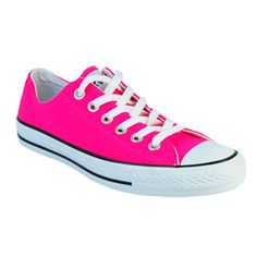 Shop Women's Converse Pink White size 8 Sneakers at a discounted price at Poshmark. Description: Hot pink converse used maybe twice - like new. Converse 2017, Neon Converse, Outfits With Converse, Converse Sneakers, Converse Style, Cute Sneakers, Cute Shoes, Me Too Shoes, Donia