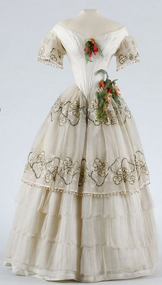 dress, ca. 1850, Hungary