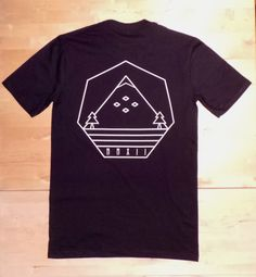 Guys T-shirt, Mens Black Mountain Peak Print Tee, Pocket T-shirt, Menswear, Limited Edition, snowboarding, outdoors, A/W 13, Autumn, Winter