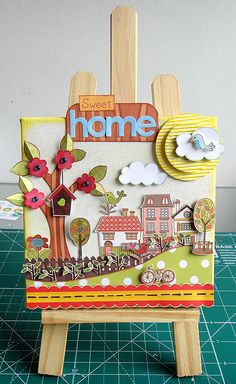 cute canvas with some My Little Shoebox! Love it!