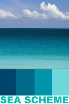 Coastal Color Palettes, Coastal Paint Colors, Color Schemes Colour Palettes, Paint Color Schemes, Green Colour Palette, Bedroom Paint Colors, Room Colors, House Color Schemes Interior, Ocean Color Palette