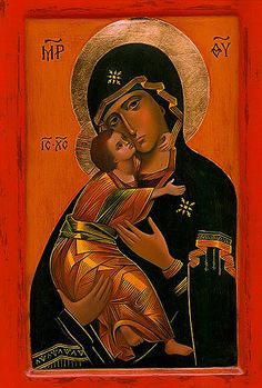 Maybe my favorite rendition of this image. Love the orange background. Religious Images, Religious Icons, Religious Art, Art Paintings For Sale, Original Paintings For Sale, Byzantine Icons, Byzantine Art, Russian Icons, Religious Paintings