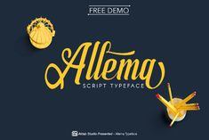 Allema Script Free Demo is the basic version of the cool Modern Calligraphy. This font was designed from authentic handwriting