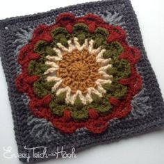 Fan Dance – 9 inch variant - free crochet pattern by Polly Plum at Every Trick on the Hook.