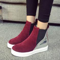 Material:Suede|Heel Height:5cm|Embellishment:Platform