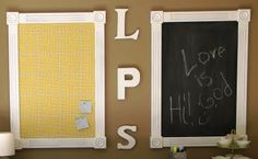 Tutorial on how to make a bulletin board and a chalkboard.