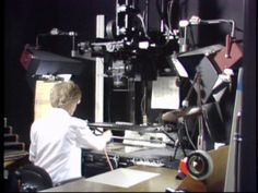 """Here's an example of a ACME-Pegged Disney Animation Rostrum Camera Stand (as seen on """"The Making of Oliver and Company"""" operated by its operator!"""