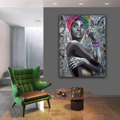 Original Women Painting by Wojtek Babski John Kenny, African Interior Design, African Art, Black Art, Art Art, Office Decor, Artworks, Family Room, Street Art