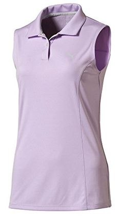 Puma Golf Women's Pounce Sleeveless Polo, Orchid Bloom, Large  Special Offer: $24.99  177 Reviews Bring some personality to the golf course in our signature sleeveless polo. Go subtle or opt for color. This go-to top provides moisture wicking properties to keep you comfortable...