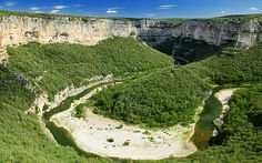 Canoeing in the Gorges of Ardeche, France